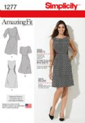 1277 Simplicity Pattern: Miss and Plus Amazing Fit Dress